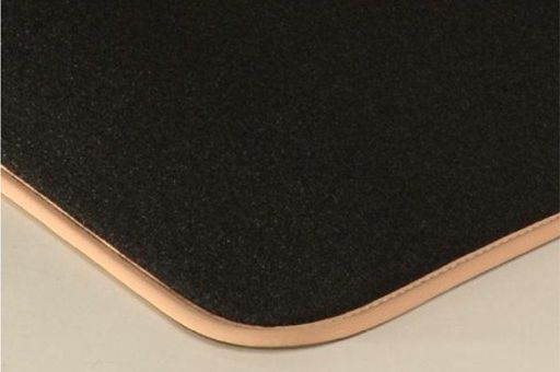 Car mat with edging