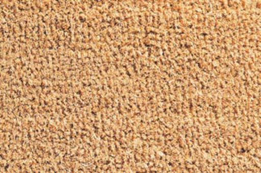 Coir mats , cut resistant with vinyl backing , in 7 different heights , nature, color or designed , or any sizes broadloom .ware.